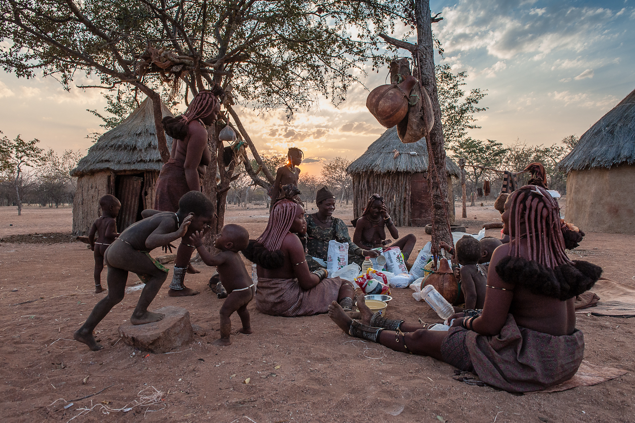 Himba at sunset