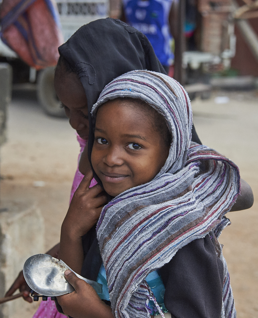 Girl, Chwaka fish market