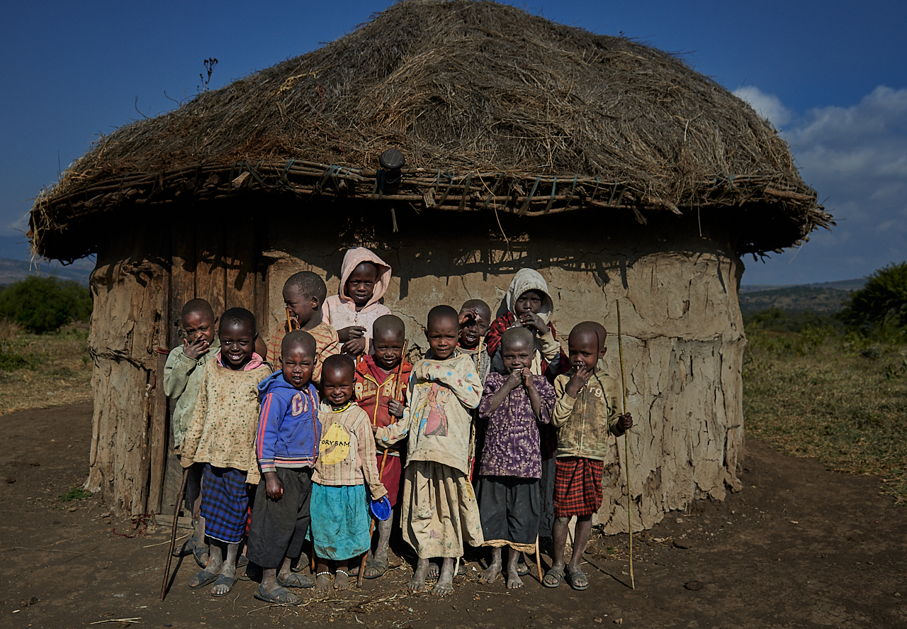 Maasai kids, Monduli Juu