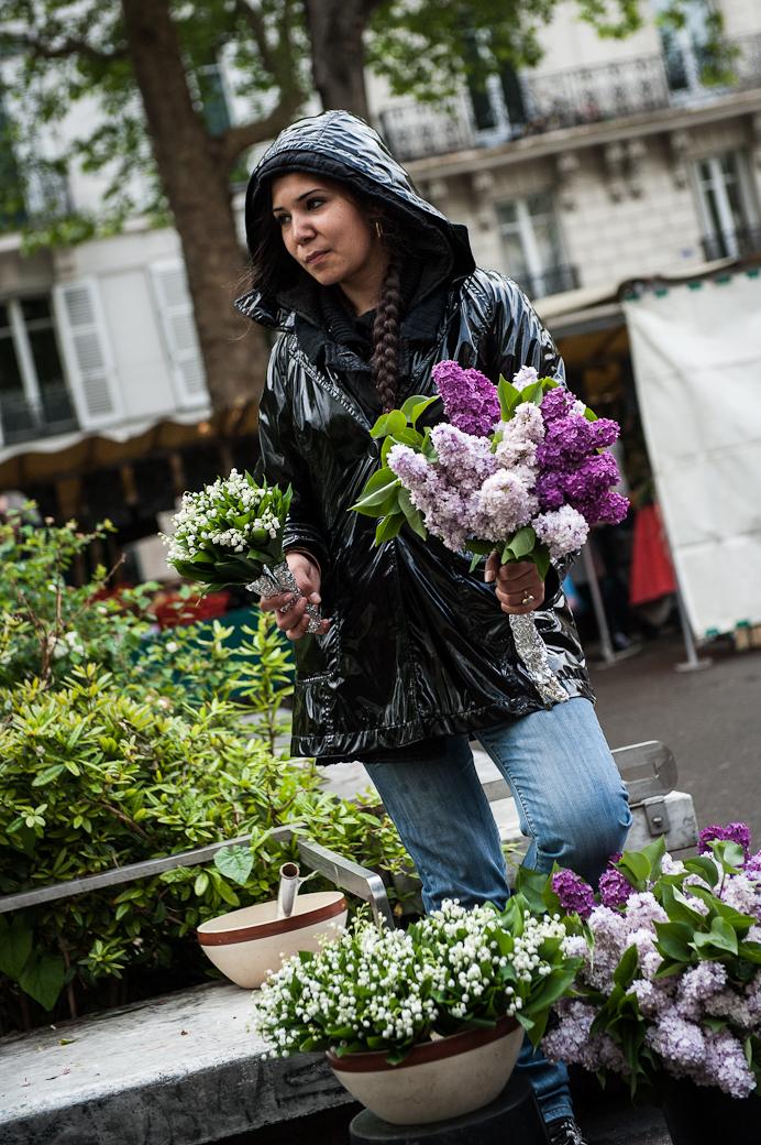 Flower-seller, Bastille market