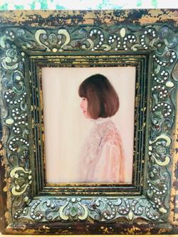 Mini Self-portrait, oil on canvas 14x18cm