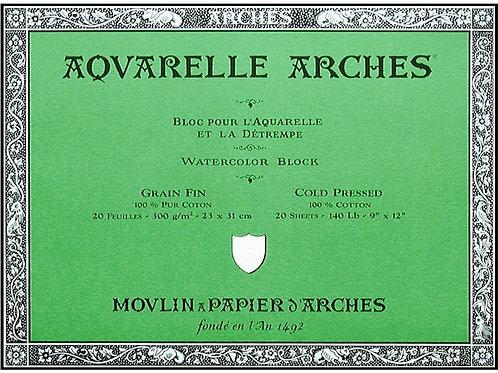 Arches Watercolor Blocks CP 23x31cm 300g