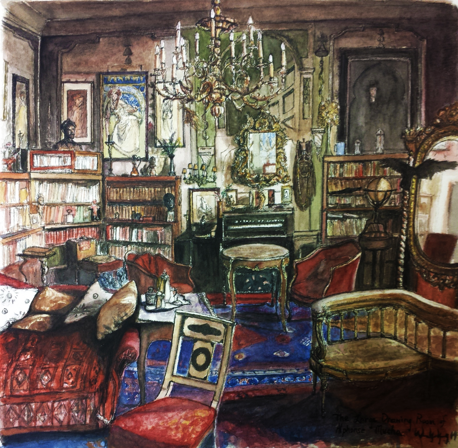 Large drawing room of Mucha