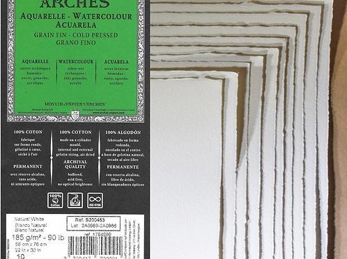 Arches 90lb Cold Press Watercolor Paper (1 sheet)