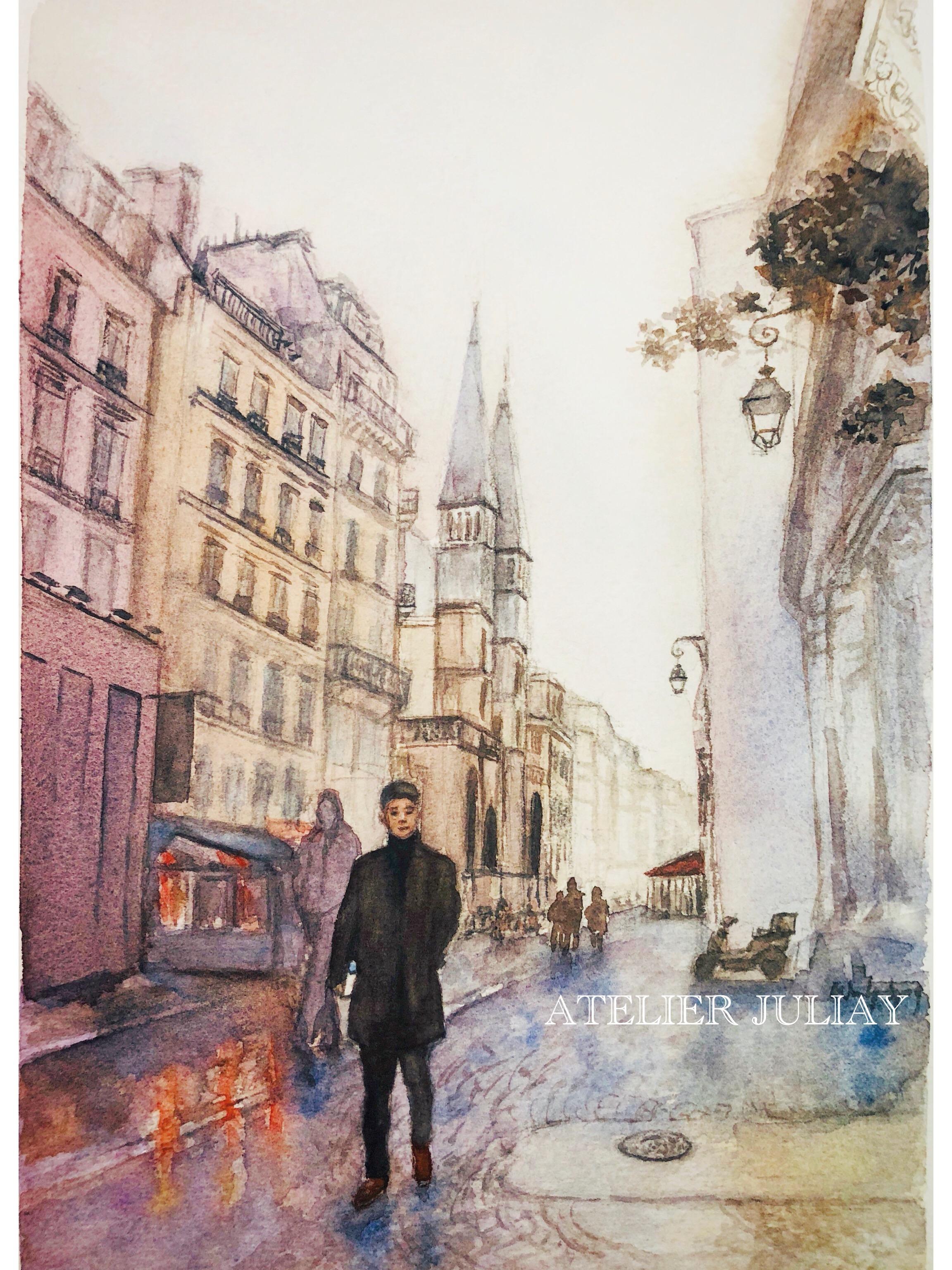 Pang on the street of Paris