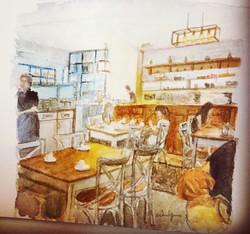 A nice cafe in Hong Kong