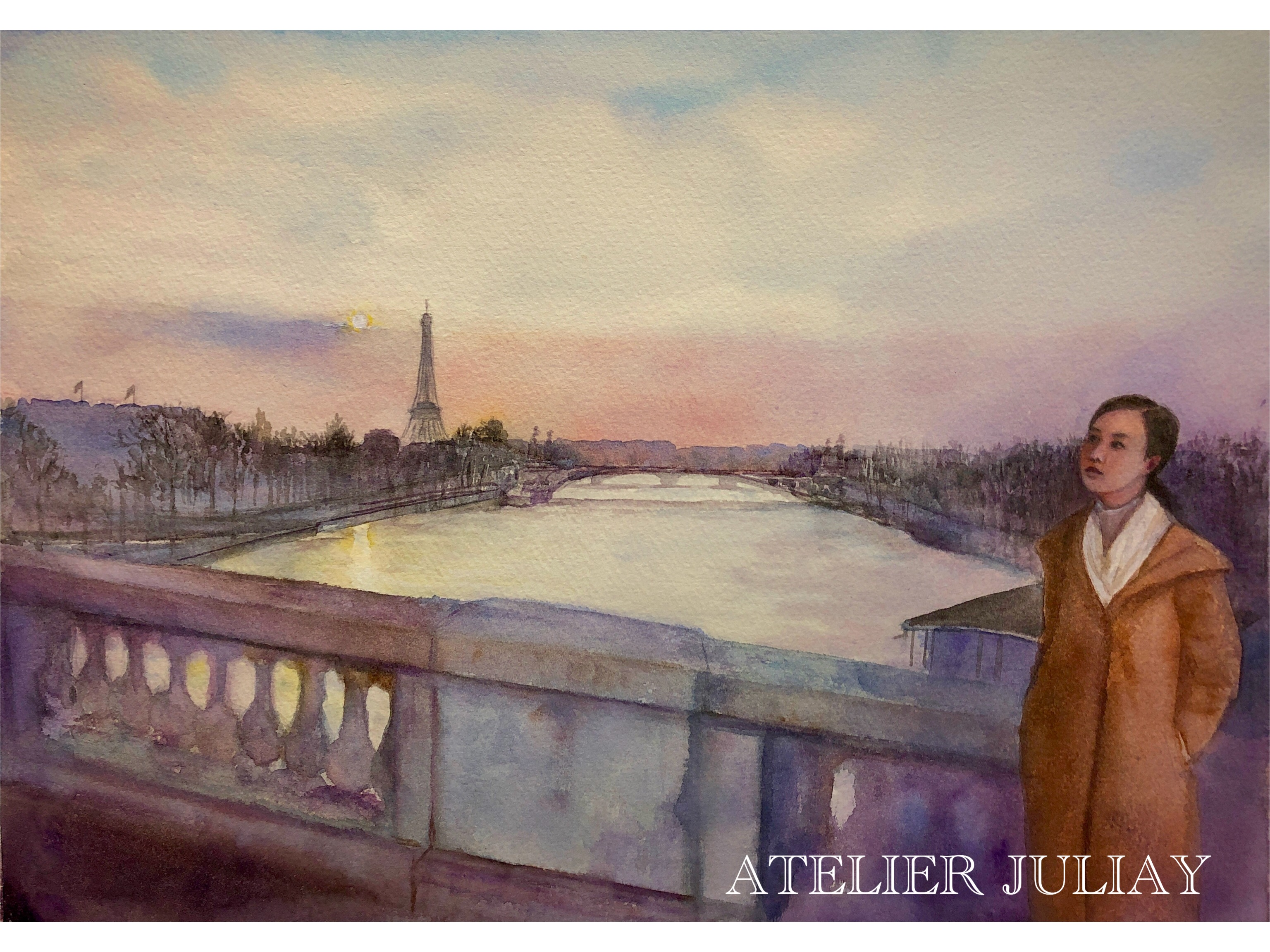 Tung on Pont de Concorde, Paris