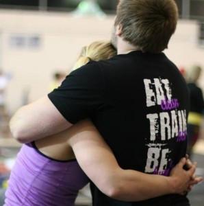 Rodney and Lizzy hug