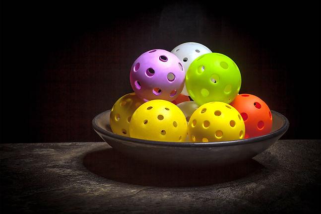 Bowl of Pickleball...still life of color