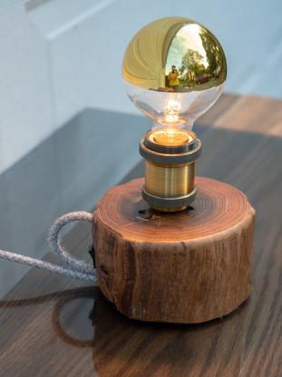 Mercury Log Lamp