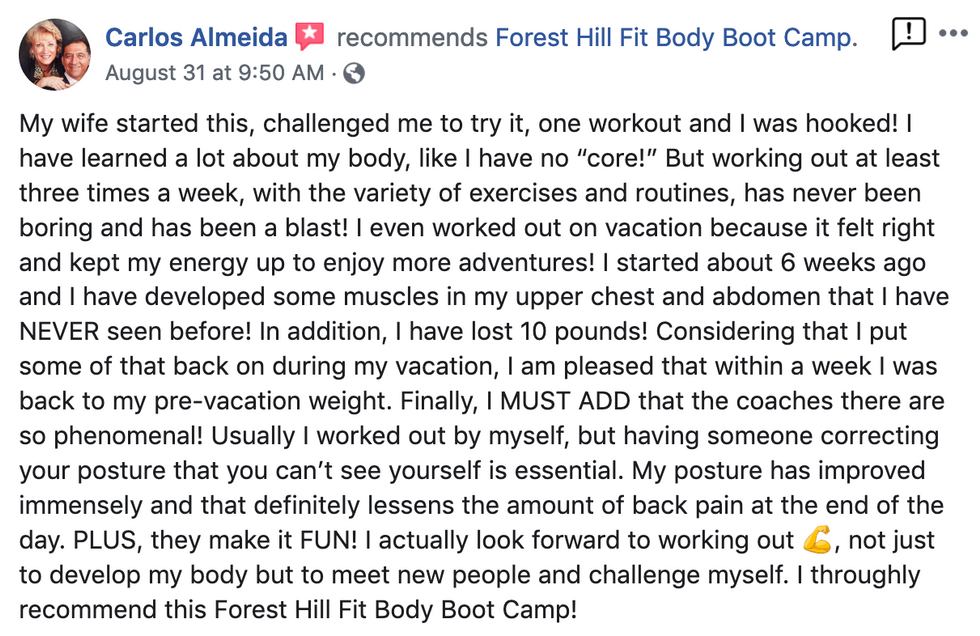 My wife started this, challlenged me to try it, one workout and I was hooked!