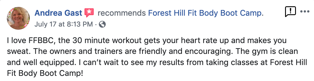 I love FFBBC, the 30 minute workout gets your heart rate up and makes you sweat.