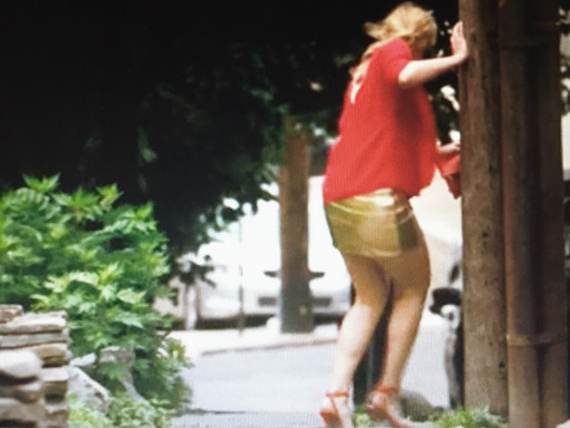 "Walk-Of-Shame: elevate your late summer ""WOS"" gold skirt to make it the ""WOP"" (W"