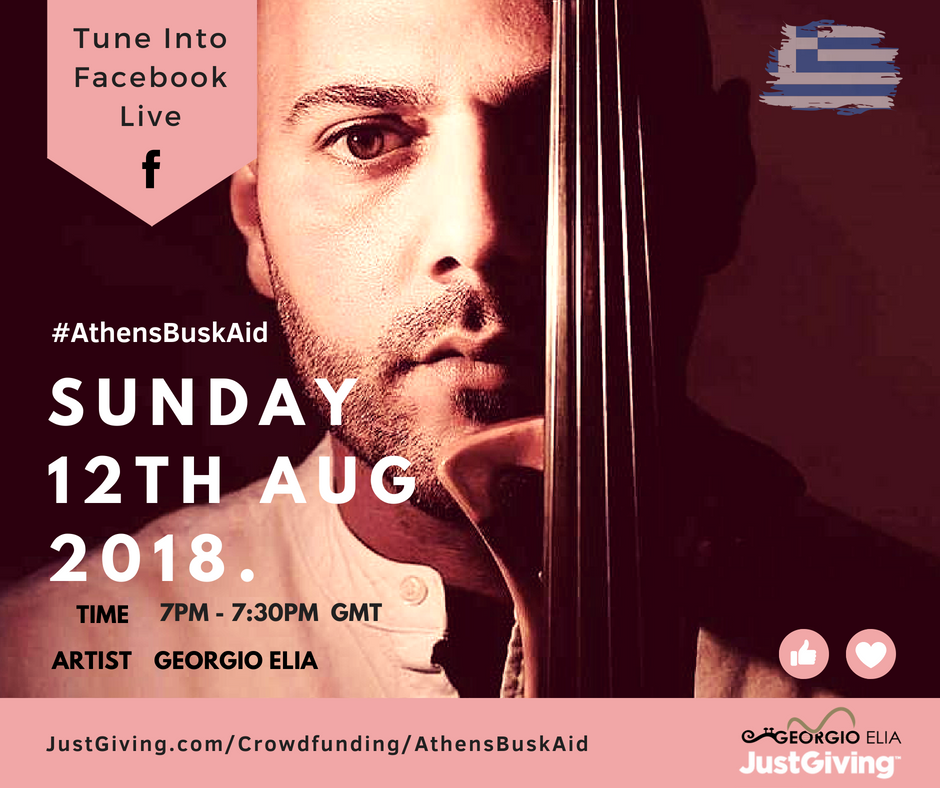 Busking For Athens, Aid For The Fire Victims July / August 2018