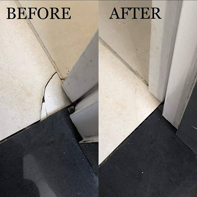 Cracked corner tile