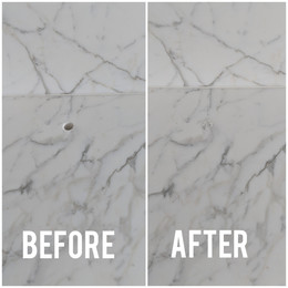 White Marble Main Bathroom sink repair