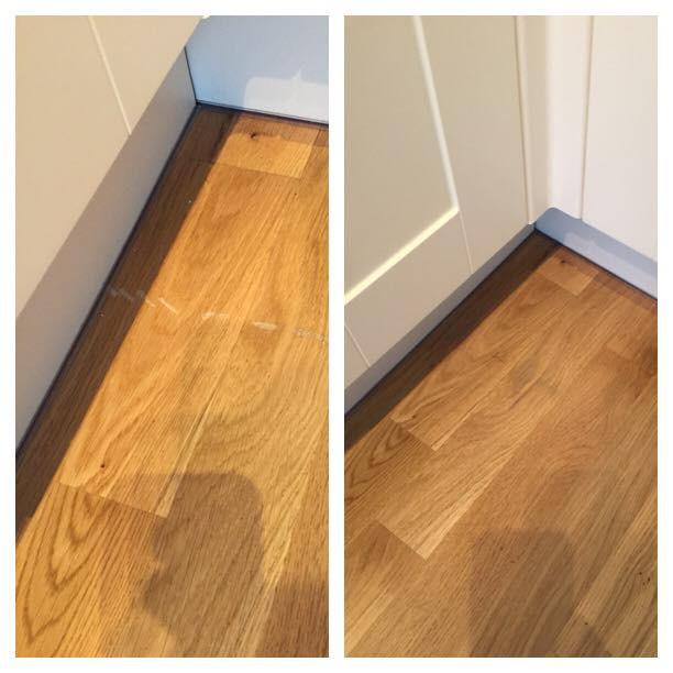 Oak Flooring Scratches - Before & After