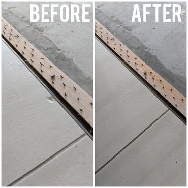 Cream chipped tile repair