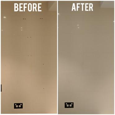 Drilled holes in tiles repair