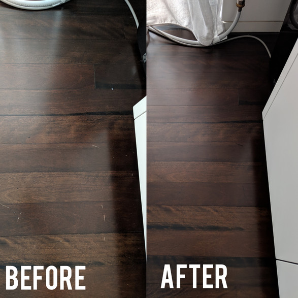 Damaged stain hardwood floor
