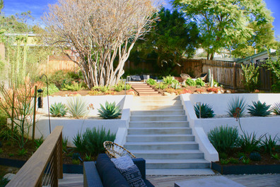 Retaining Walls and Staircase