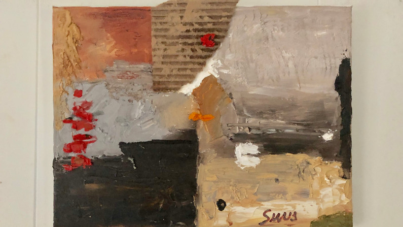Brent Sievers - Geology Field Notes II, mixed media on canvas, 9 x 12 - Untitled Light.JPG