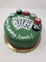 Custom Poker Birthday Cake