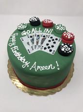 Custom Poker Birthday Cake