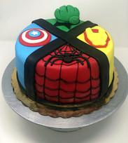 Custom Marvel Cake