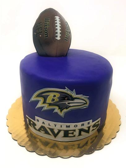 Custom Footbal Birthday Cake