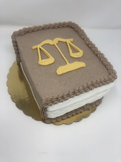 Custom Lawyer Bithday Cake