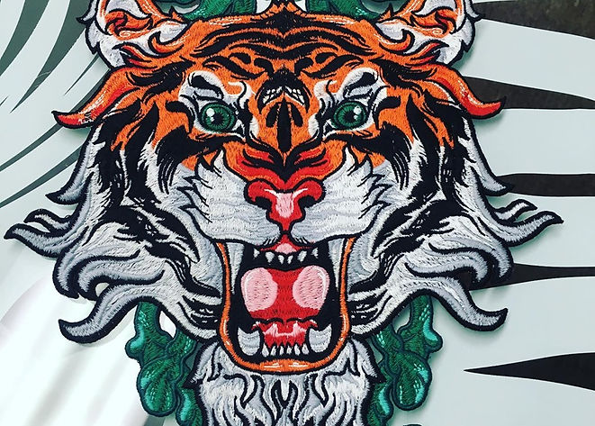 Patch Asian Lion Custom Clothing