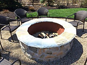 Outdoor Living of New Jersey Wood Fire Pit Round