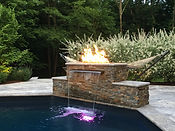 Outdoor Livng of NJ Fire Pit Waterfall