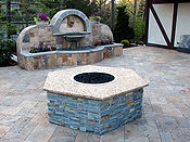 Outdoor Livng of NJ Fire Pit table backyard