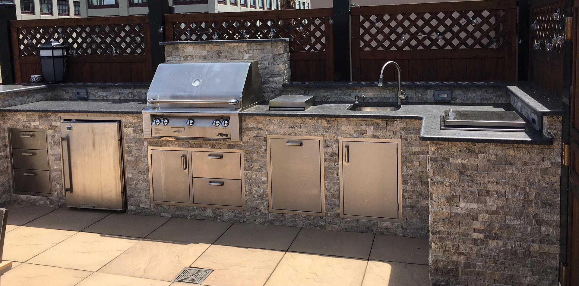 Outdoor Living of NJ Rooftop Kitchen