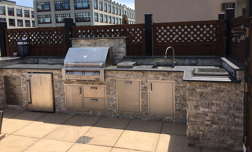 Outdoor Living of NJ Rooftop Kitchen