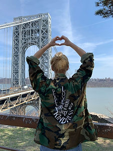 Army Jacket withPeace Sign
