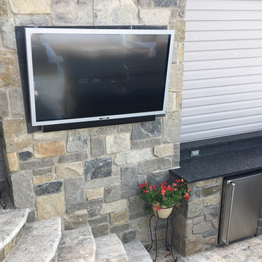 Outdoor Television Built in