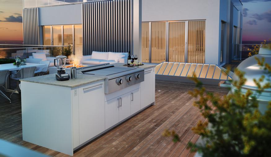 Beautiful Penthouse Outdoor Kitchen