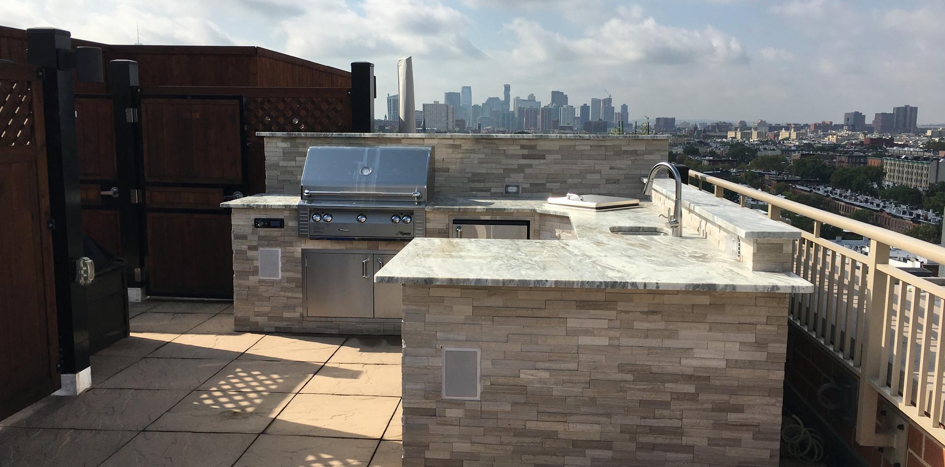 Outdoor Living Rooftop Kitchen