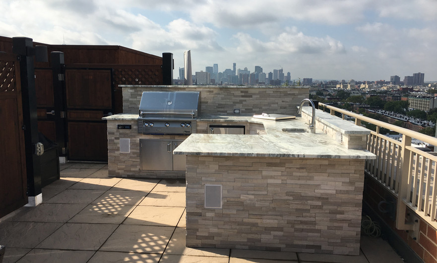 Outdoor Living Rooftop Kitchen
