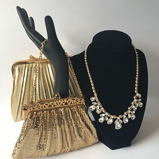 Vintage handbags and jewelry