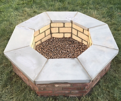 Wood Fire Pit with Lava