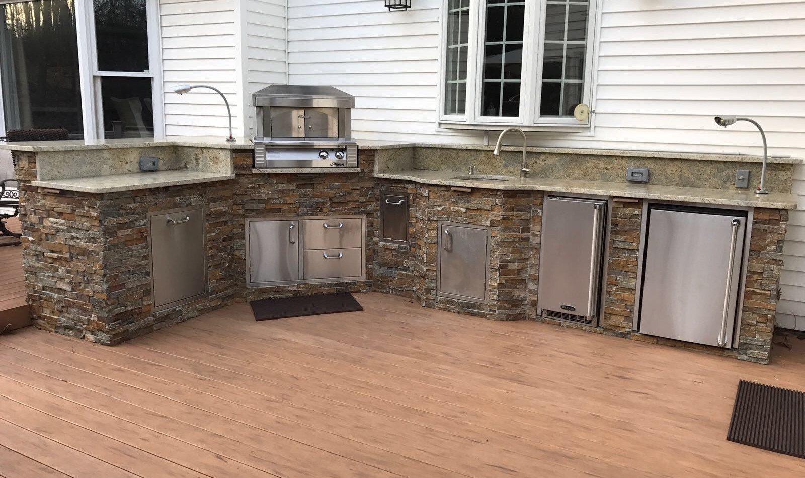 Stainless outdoor kitchen