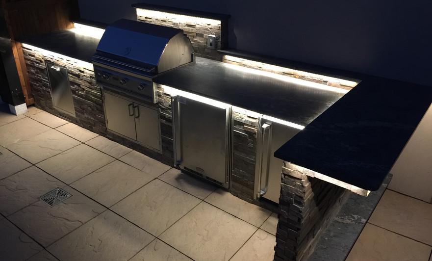 Outdoor Kitchen at night