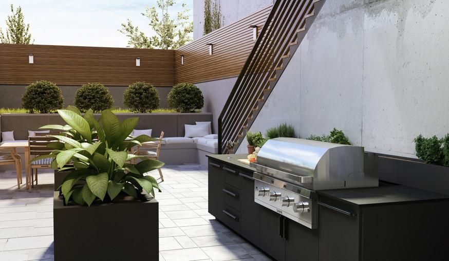 Urban_Plan Outdoor Modern Kitchen