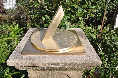 Brass Spot on Sundial
