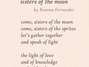Moon Poems by Roanna Fernandes