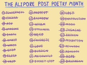 30 poems in 30 days: The Alipore Post Poetry Month